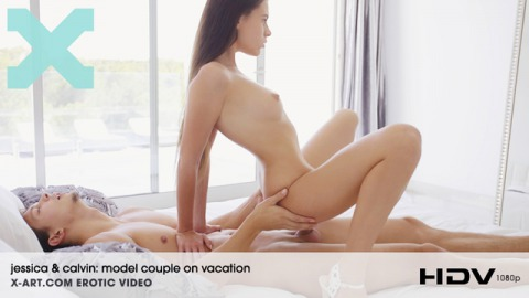 Model Couple on Vacation